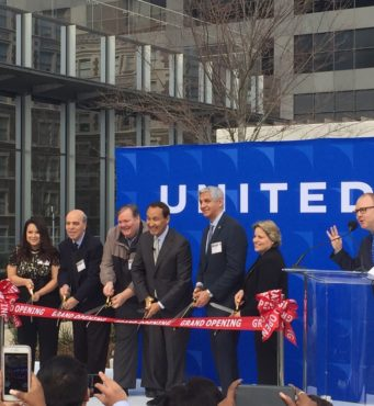 United Airlines Support Center Ribbon Cutting