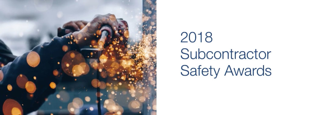 2018 Subcontractor Safety Awards